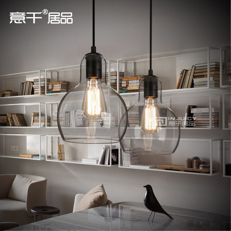 все цены на Vintage Loft Industrial Edison Ceiling Glass Ball Lamp DropLight Pendant E27 Bar Cafe Bar Coffee Shop Hall Store Club Bedside