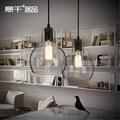 Vintage Loft Industrial Edison Ceiling Glass Ball Lamp DropLight Pendant E27 Bar Cafe Bar Coffee Shop Hall Store Club Bedside