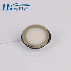 Image 2 - Honeyfly特許ledダウンライト220 240v 2ワットled天井スポットランプsmd 2835屋内55ミリメートルカット穴非常に簡単なインストール