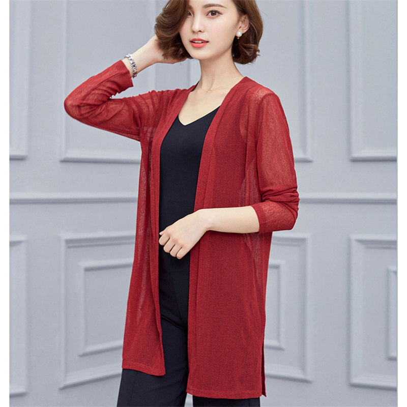 Womens Blouse Shirts Spring Summer New Holidays Cardigan Sweaters Crochet Ladies Tops Casual Knitted Plus Size For Work Women