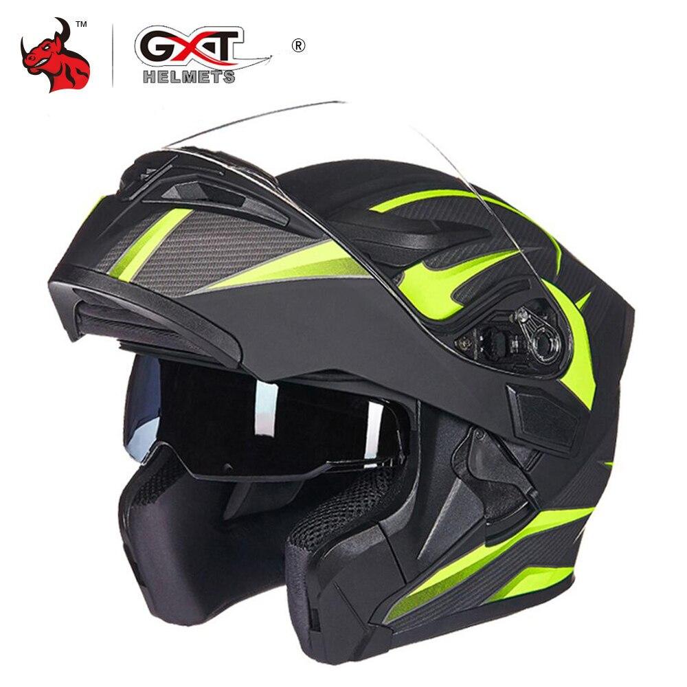GXT Motorcycle Helmet Flip Up Motocross Helmets Men Full Face Moto Helmets Motorcycle Capacete Casco Moto