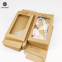 Let's Make Baby Gift/Merchandise/Packing Box 50pcs Kraft Paper Wedding Wrapping Jewelry Supply Nursuing Accessories Baby Teether