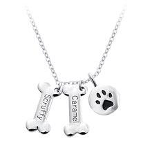 2016 nueva de la llegada collar de hueso de perro diseño Popular de la pata collar de collar mujeres plateado personalizado Collares collar
