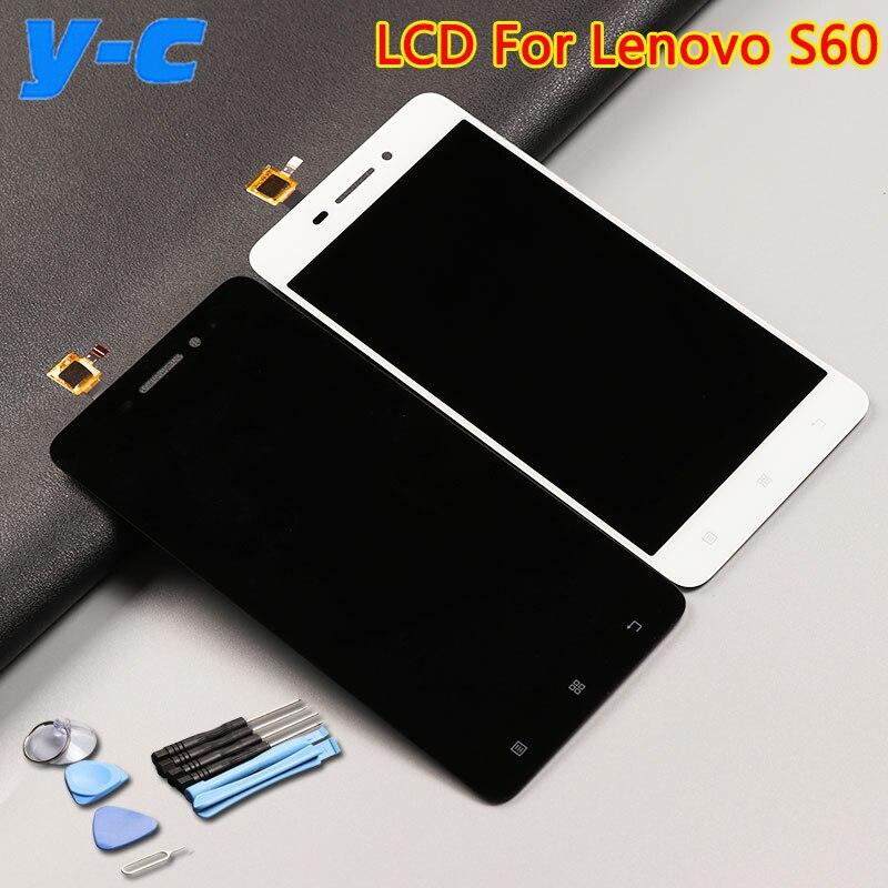 Para lenovo s60 lcd display + pantalla táctil 100% nuevo panel de cristal del di