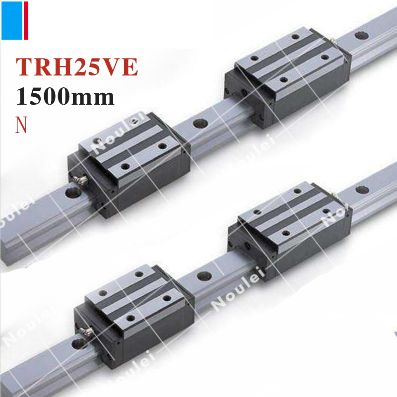 TBI TBIMOTION TR25N 1500mm linear guide rail with TRH25VE slide blocks stainless steel High efficiency CNC sets X Y Z Axis горелка tbi sb 360 blackesg 3 м
