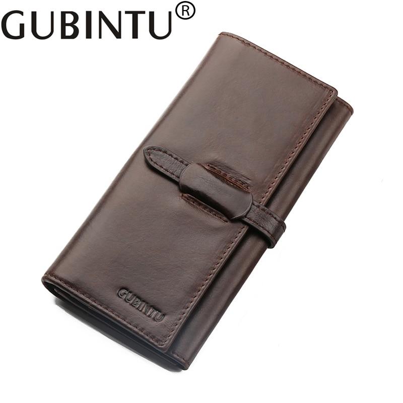 Long Phone Luxury Card Holder Fashion Men Genuine Leather Wallet Male Purse Clutch Handy Perse For Walet Cuzdan Vallet Money Bag