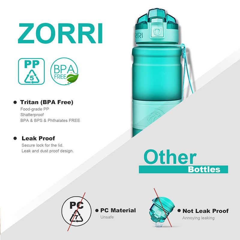 ZORRI Water Bottle Protein Shaker Portable Motion Sports Water Bottle Bpa Free Plastic For Sports Camping Hiking Gourde 1000ml