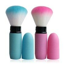 New Arrival 1pc Portable retractable brush loose powder brush blush brush makeup brush Top Quality