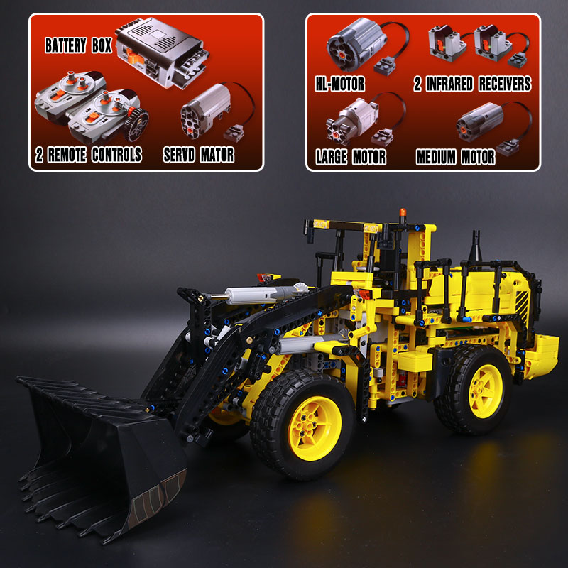 DHL รถ Technic 20006 42030 L350F ล้อ loader Building Blocks อิฐประกอบชุดเด็กของเล่นคริสต์มาสของขวัญ-ใน บล็อก จาก ของเล่นและงานอดิเรก บน   2