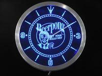 Nc0401 Beer Pong Téléchargez vos Boules de Bar Neon Sign Horloge Murale LED