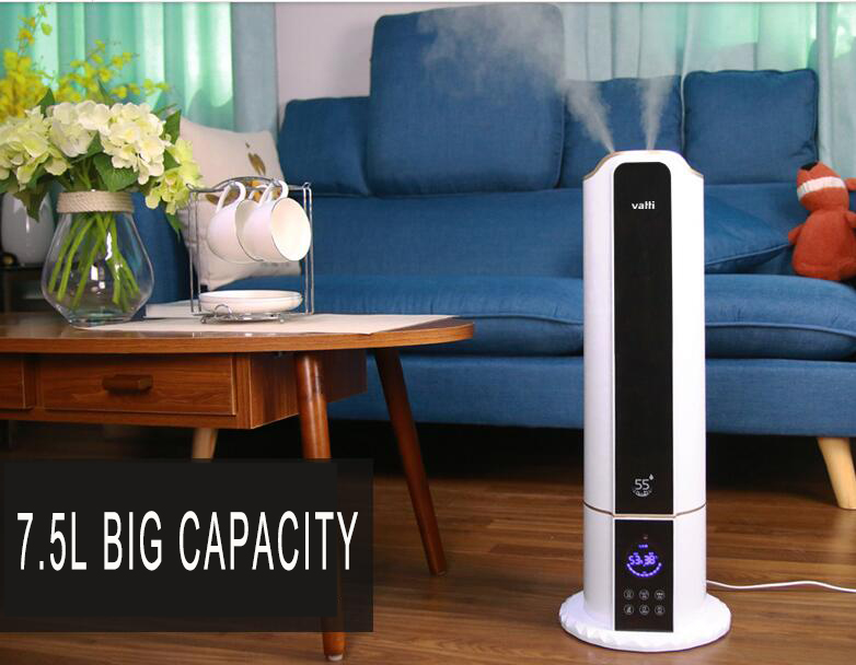Pure Evaporative Air Humidifier With 7.5L Large Capacity Tank Automatic Water Evaporation Mist Maker Home Office