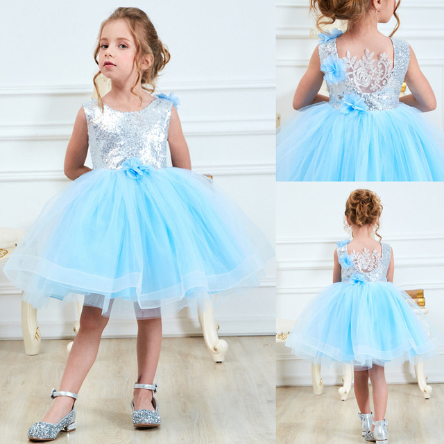 Summer Kids Dresses For Girls Princess Baby Girl Sleeveless Cartoon  Sequined Print Dress Kids Flower Clothes Carnival Vestido b8d809bcf7ab