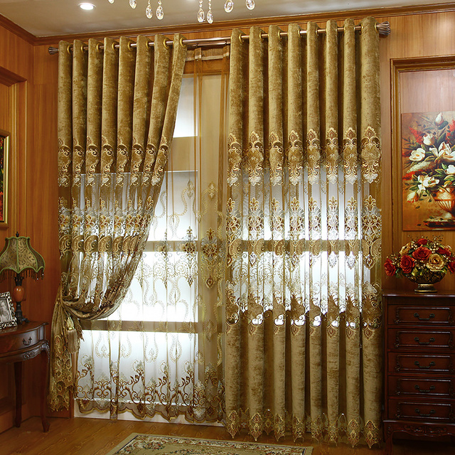 2017 new European style air curtains elegant living room home ...