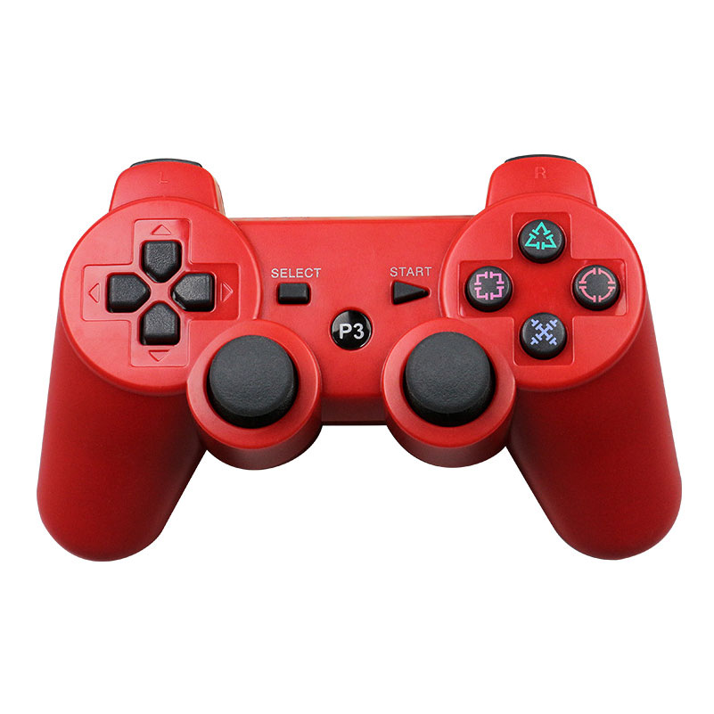 For Sony Playstation3 szKosTon 11 Colors 2.4GHz Wireless Bluetooth Game Controller For PS3 Controller Joystick Gamepad Top Sale red