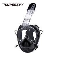 SOFT NOSE Diving Mask 2019 New upgraded Full Face Scuba Mask One piece Gasbag Anti fog Snorkeling Mask for Kids Adults