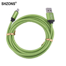 25cm 1m 2m 3m Nylon Braided Micro USB Charging Cable Sync Data Cord for Samsung S3 S4 S5 S6 S7 Edge for Android Phone USB Cable