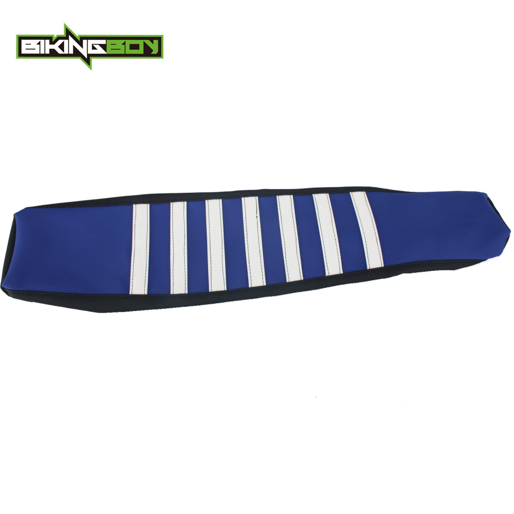 BIKINGBOY Soft-Seat-Cover Motocross-Offroad Ribbed YAMAHA MX Gripper for WRF WRF250 Stripes