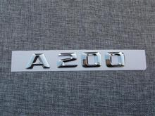 ABS Plastic Car Trunk Rear Letters Badge Emblem Decal Sticker for Mercedes Benz A Class A200 abs plastic car trunk rear letters badge emblem decal sticker for mercedes benz s class s63