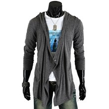 2017 Brand New Fashion Mens Jackets Spring Stylish Single Button Long Sleeve Hooded Coat Cardigan Male Casual Solid Outwear