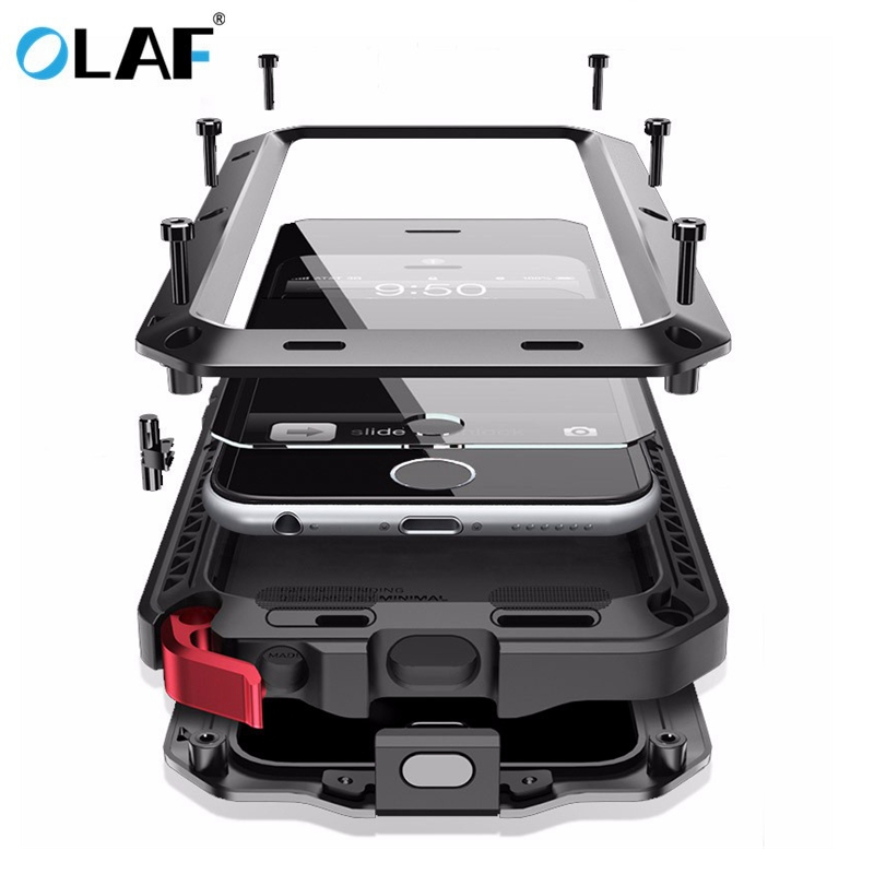 OLAF Heavy Duty Case Metal Case Shockproof Cover For Samsung Galaxy S4 S5 S6 S6 S7 edge S9 S8 Plus Note 8 5 4 Shockproof Cover