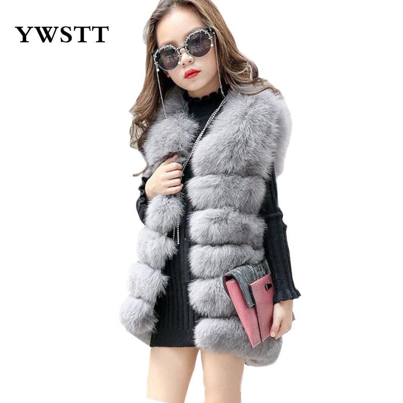 770039377c1 2017 Winter Children s Faux Fur Vest Girls High Imitation Artificial Fur  Vest Luxury Jacket Princess Imitation