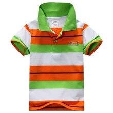New Baby Boys Kid Tops T-Shirt Summer Short Sleeve T Shirt Striped Polo Shirt Tops Hot
