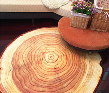6mm Ultra thin 80 100 120 160CM Antique Wood Tree Annual Ring Round Carpet For Living