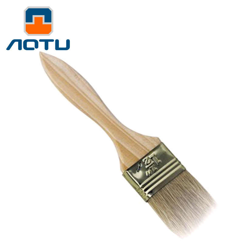 1pcs/set Oil  Brushes Heat-resistant Pig Hair Bristles Baking Barbecue Bbq Brush Wooden Handle Camping Tools