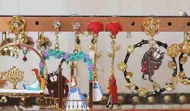 2019 Amybaby ручная работа глянцевое покрытие Красавица и Чудовище женские серьги-гвоздики ювелирные изделия для вечерние