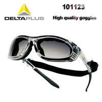 Delta plus 101123 óculos de proteção gradiente destacável bolha quadro óculos de proteção anti-choque uv ciclismo óculos de segurança
