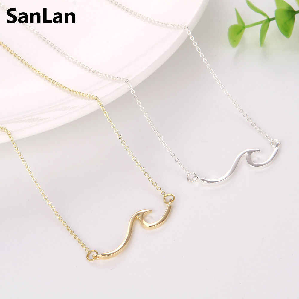 SanLan Catch the ocean Wave Necklace Beach Surfer jewelry beach