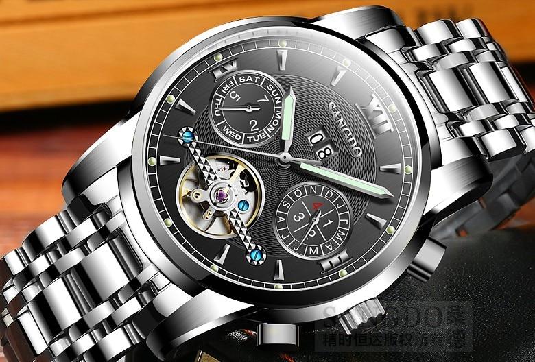 Фотография 42mm Sangdo 2017 new fashion Automatic Self-Wind movement Sapphire Crystal High quality Mechanical Wristwatches Men