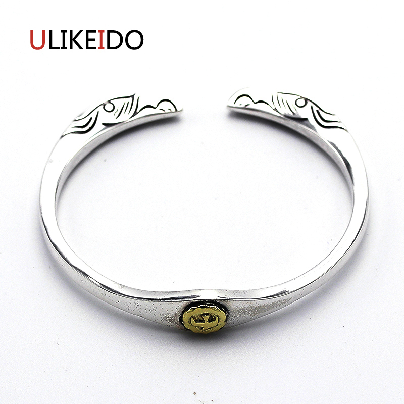 Pure 925 Sterling Silver Bangle Eagle Fashion Vintage Hand Chain For Men And Women Sprcial Adjust Jewelry Charm Letter 458Pure 925 Sterling Silver Bangle Eagle Fashion Vintage Hand Chain For Men And Women Sprcial Adjust Jewelry Charm Letter 458