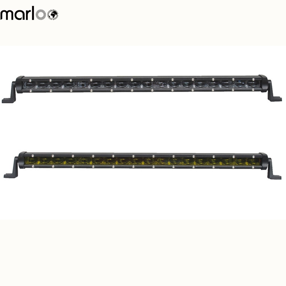 Marloo White Amber 20 inch 6D 90W LED Work Light Bar Waterproof Driving Fog Lamp Offroad 24V 12V For Jeep SUV Vehicle Car Boat 7 inch 60w 6d led light bar lamp offroad waterproof 6000k universal work bulbs