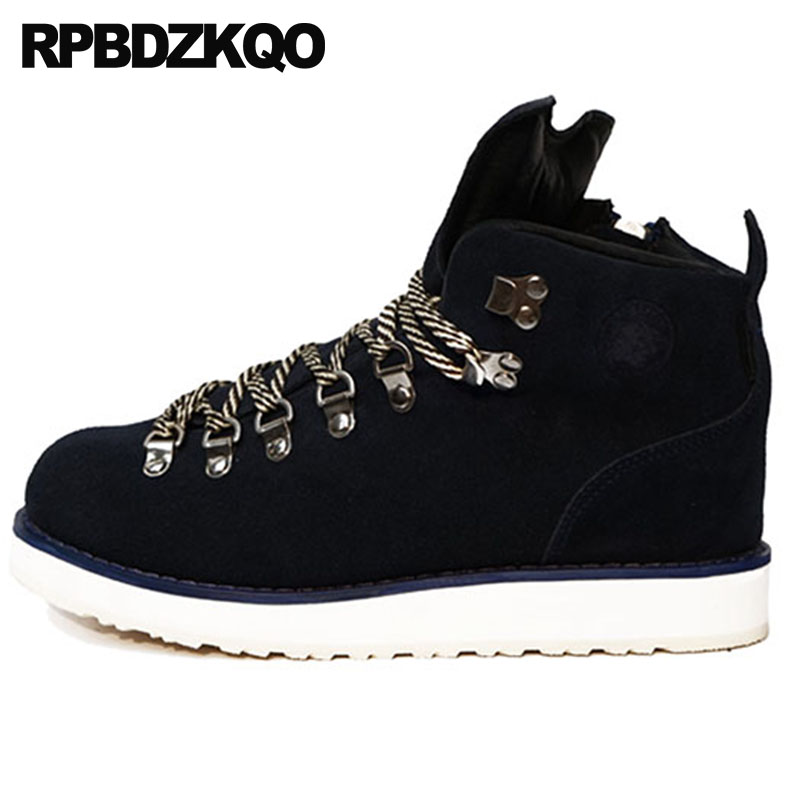 zipper waterproof booties high top suede lace up shoes runway genuine leather autumn footwear black fall designer men qualityzipper waterproof booties high top suede lace up shoes runway genuine leather autumn footwear black fall designer men quality