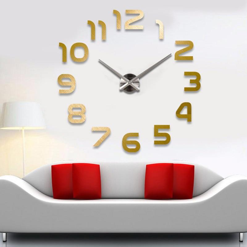Μεγάλα ρολόγια ρολογιών τοίχου horloge 3d - Διακόσμηση σπιτιού - Φωτογραφία 3