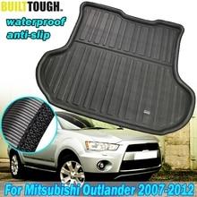 Protecteur de tapis de sol  Adapté pour Mitsubishi Outlander 2007 2012 revêtement de coffre arrière, plateau de Cargo, 2008 2009 2010 2011