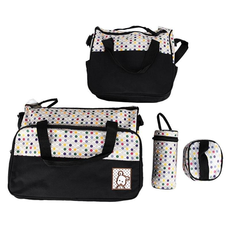 Set 5 Kits Mom Bag For Baby Bottle Maternal Pocket Bag /Handbag For Baby Carriage Trolley Feeding Bottle Food Mattress Honeyco