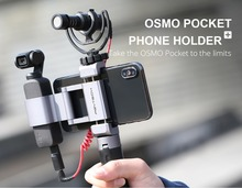 For PGYTECH Osmo Pocket Foldable Phone Holder Plus Bracket Tripod Selfie Stick Pole DJI Handheld Gimbal Accessories