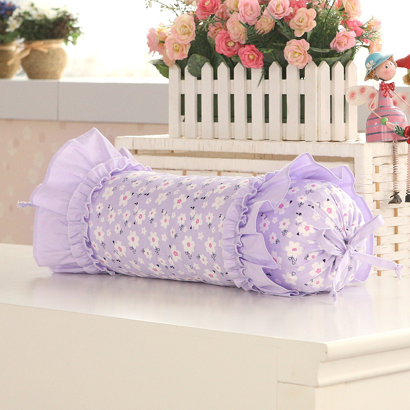 Luxury Cylindrical Soft Cushion Cotton Purple Decorative Throw Pillows Decorate Chair Sofa Lumbar Cushions Home Decor Christmas