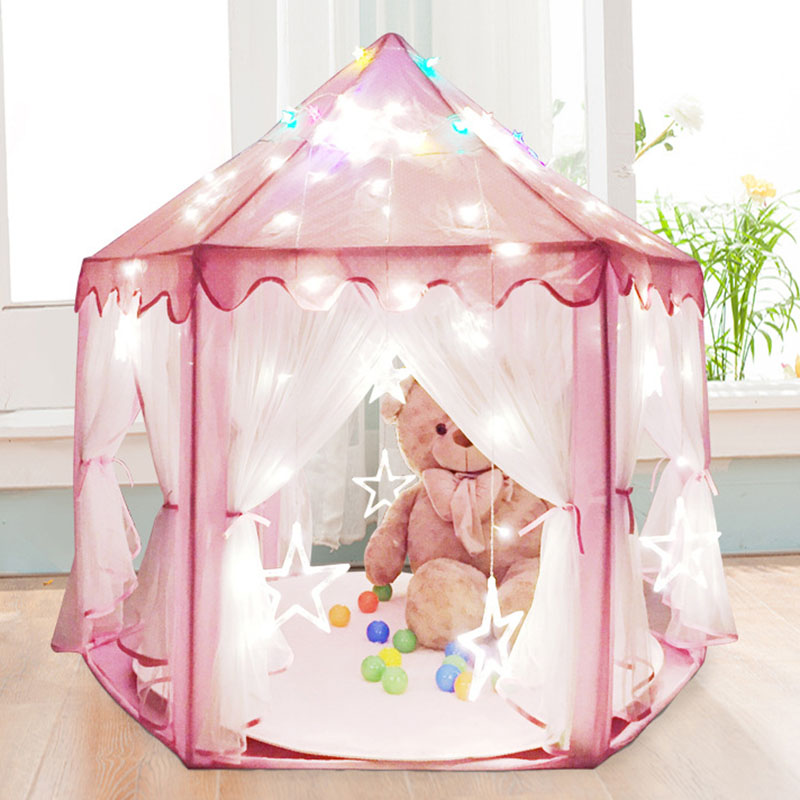 Actionclub Kids Outdoor Tent Baby Toy Play Game House Prince Girls Princess Castle Tent Ultralarge Beach Garden Folding Toy south korea six large angle princess castle tulle children toy house large game room selling mosquito tent puzzle tent toy