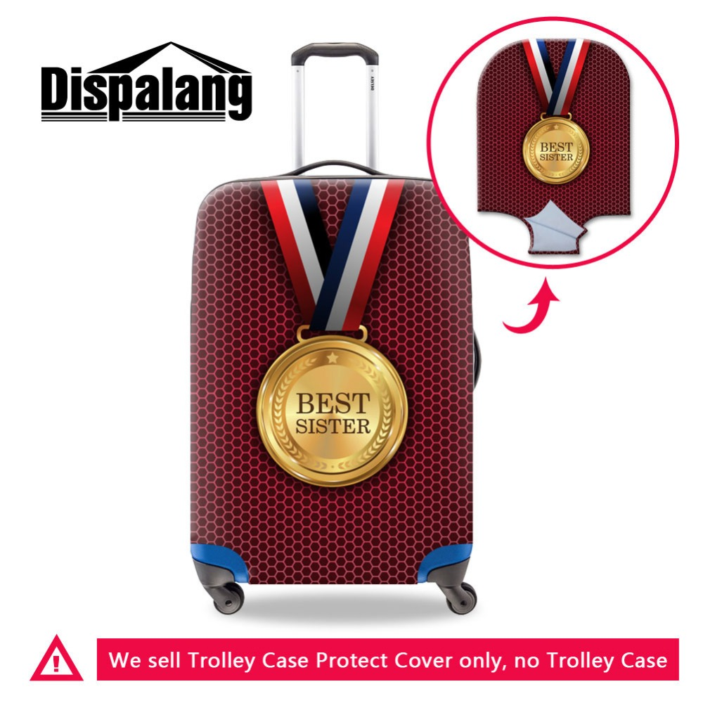 Dispalang Promotional Fashion Design Any Color Printed Suitcase Bag Protective DIY Custom Luggage Cover Wholesale Good Fabric