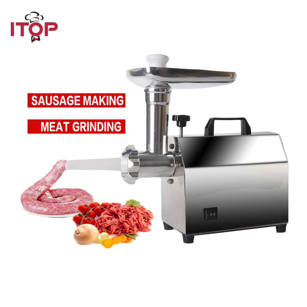 ITOP Electric Meat Grinder Sausage Filler Household Multifunction Meat Grinder High Quality Stainless Steel Blade Mincer cg55gh cg22dm electric meat grinder rotary cheese grater machine stainless steel meat mincer sausage stuffer filler commercial