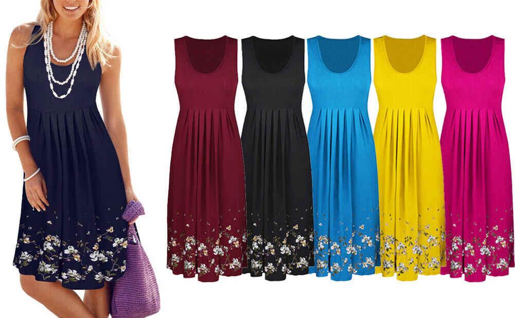 Vestido de verano con estampado Floral, mujer, cuello en pico, manga larga, noche, fiesta, playa, niñas, ligero, minivestido femenino