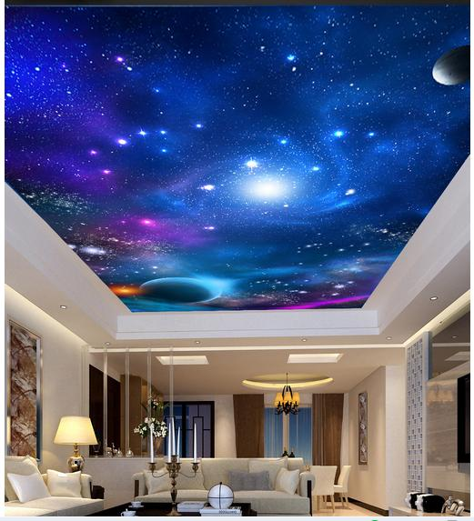 Custom Photo Wallpaper 3d Ceiling Murals Wallpaper Sky Zenith Ceiling Mural Wallpaper Condole Roof Wall Papers Home Decoration