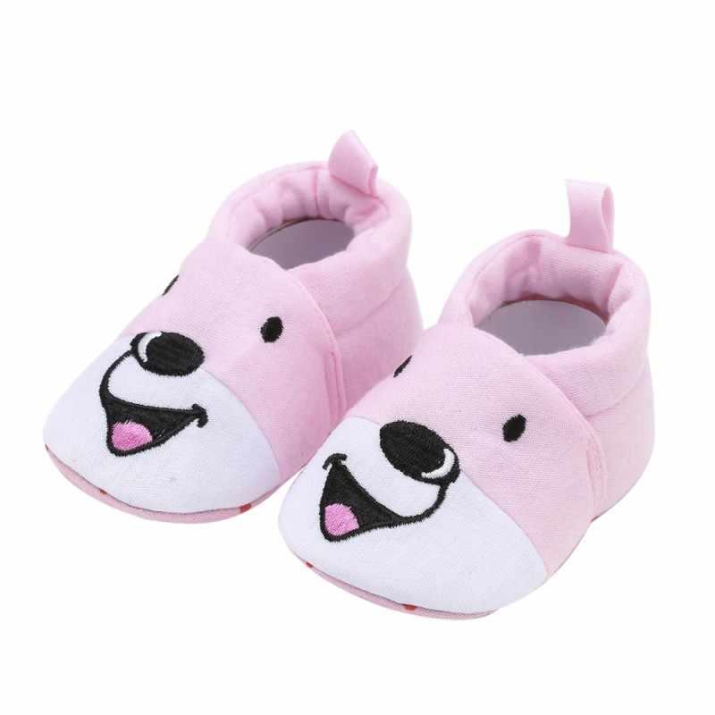 אופנה חדשה סתיו חורף תינוק נעלי בנות ילד ראשון הליכונים יילוד נעלי 0-18 m נעלי קריקטורה כלב ראשון הליכונים