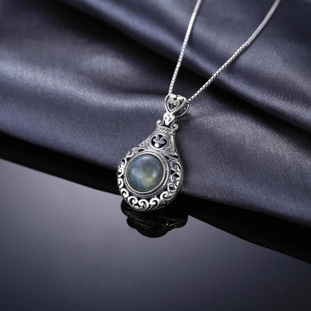 JPalace Trái Tim Labradorite tự nhiên Mặt Dây Chuyền Đẹp, Mặt Dây Chuyền Nam Bạc 925 Đá Quý Choker Vòng Phụ Nữ Không Dây Chuyền