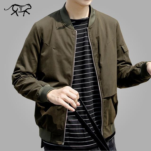 8b0da2c7060 Design Jacket Men Fashion Autumn Korean Mens Bomber Jackets Casual Slim Fit Outerwear  Coats Windbreaker Green Jaqueta Masculina