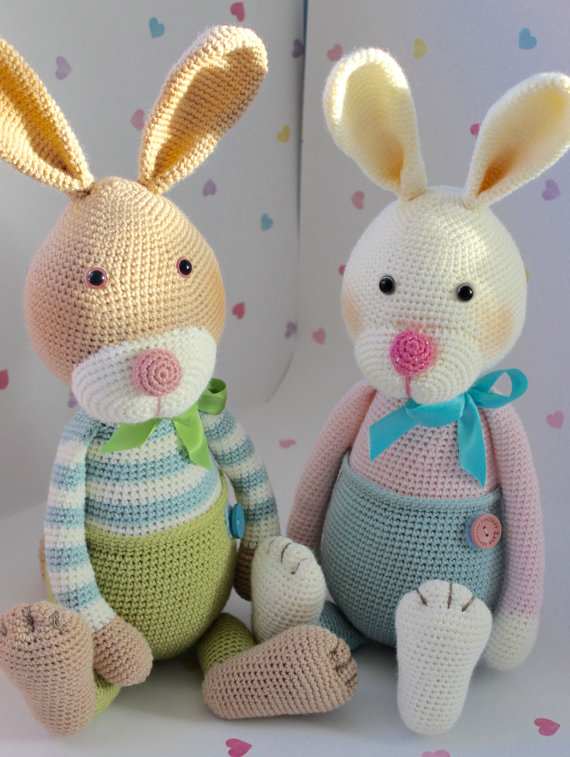 Crochet bunny rabbit, Amigurumi bunny: Amazon.co.uk: Handmade | 757x570