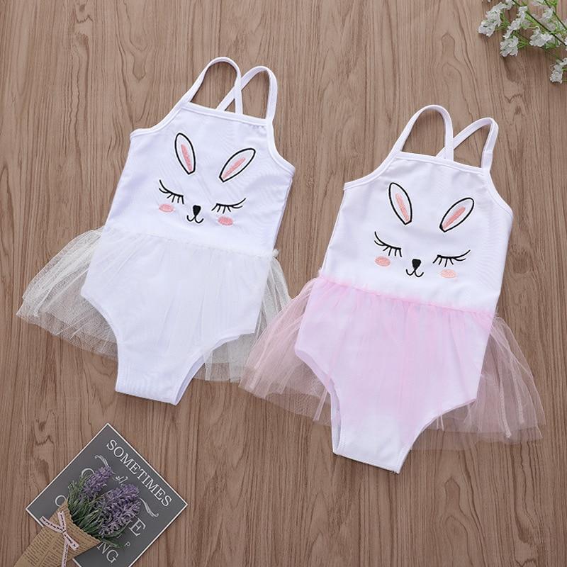9a6a93f9 Cheap Verano bebé ropa de playa Kawaii conejo estampado tutú sin mangas bebé  niña Bodysuits gemelos